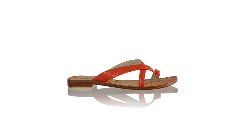 Leather-shoes-Romance Without Strap 20mm Flat - All Orange BKK-sandals flat-NILUH DJELANTIK-NILUH DJELANTIK