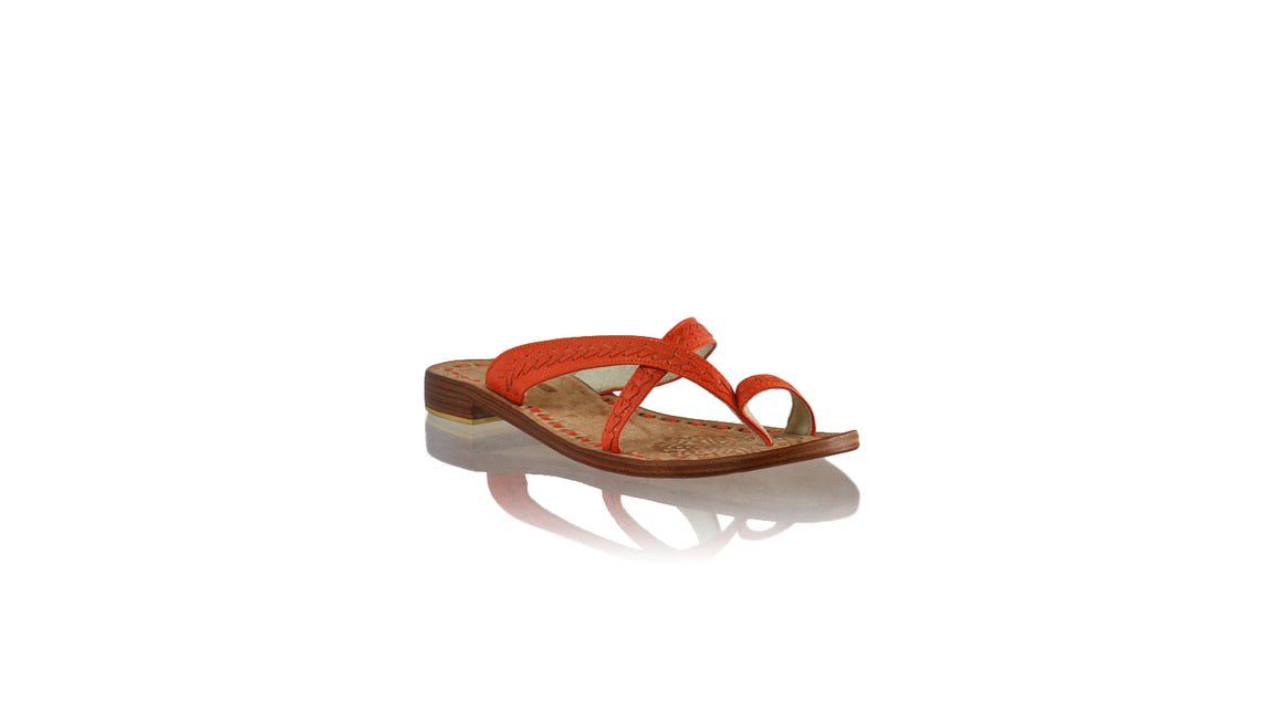 Leather-shoes-Romance Without Strap 20mm - All Orange BKK-sandals flat-NILUH DJELANTIK-NILUH DJELANTIK