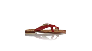 Leather-shoes-Romance Without Strap 20mm - All Red BKK-sandals flat-NILUH DJELANTIK-NILUH DJELANTIK