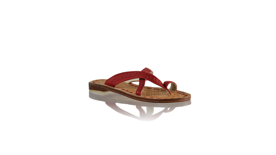 Leather-shoes-Romance Without Strap 20mm Flat - All Red BKK-sandals flat-NILUH DJELANTIK-NILUH DJELANTIK