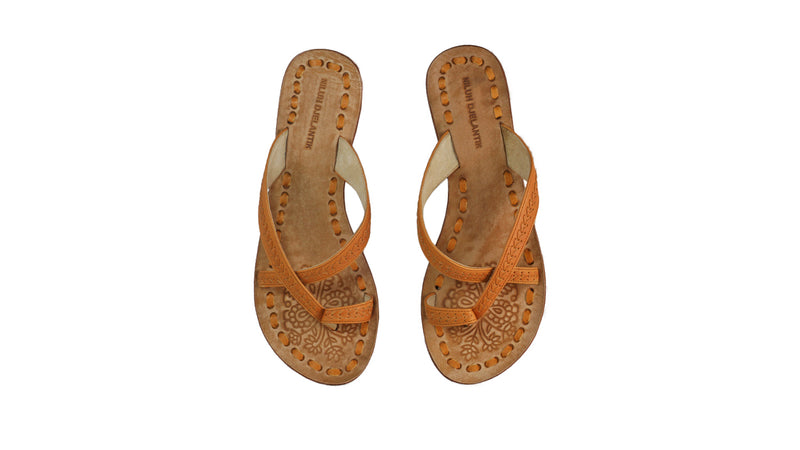 Leather-shoes-Romance Without Strap 20mm Flat - All Tan-sandals flat-NILUH DJELANTIK-NILUH DJELANTIK