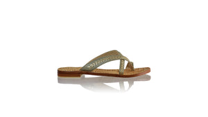 Leather-shoes-Romance Without Strap 20mm - Grey & Gold-sandals flat-NILUH DJELANTIK-NILUH DJELANTIK