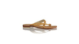 Leather-shoes-Romance Without Strap 20mm Flat - Tan & Gold-sandals flat-NILUH DJELANTIK-NILUH DJELANTIK