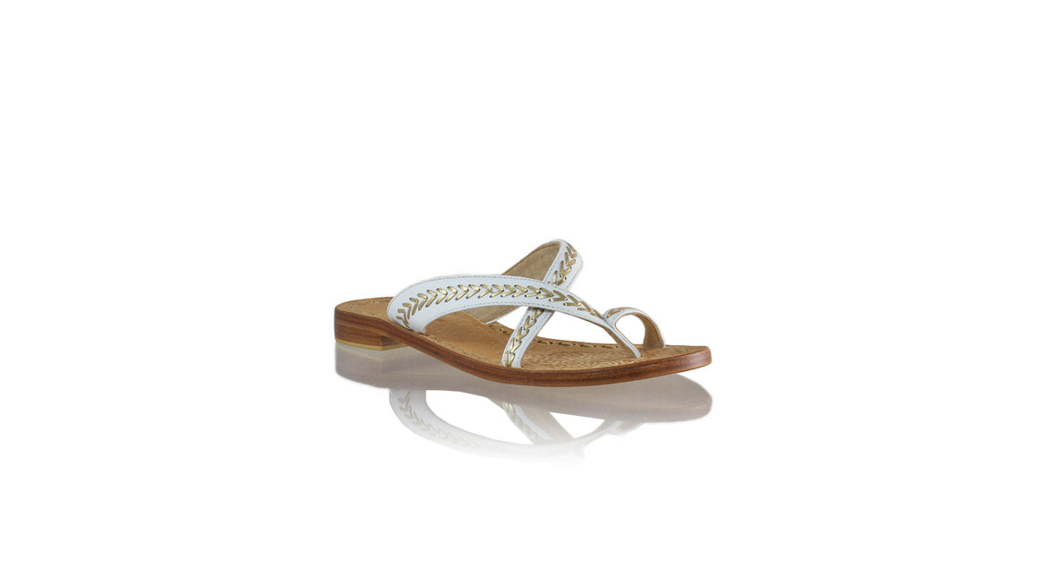 Leather-shoes-Romance Without Strap 20mm - White & Gold-sandals flat-NILUH DJELANTIK-NILUH DJELANTIK