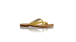 Leather-shoes-Romance Without Strap 20mm - Yellow & Gold-sandals flat-NILUH DJELANTIK-NILUH DJELANTIK