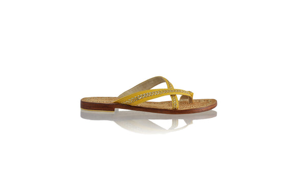 Leather-shoes-Romance Without Strap 20mm Flat - Yellow & Gold-sandals flat-NILUH DJELANTIK-NILUH DJELANTIK