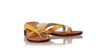 leather shoes Romance without Strap 20mm Flats - Orange Patent & Gold, sandals flat , NILUH DJELANTIK - 1