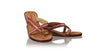 leather shoes Romance without Strap 35mm Wedges - Red & Gold, sandals wedges , NILUH DJELANTIK - 1