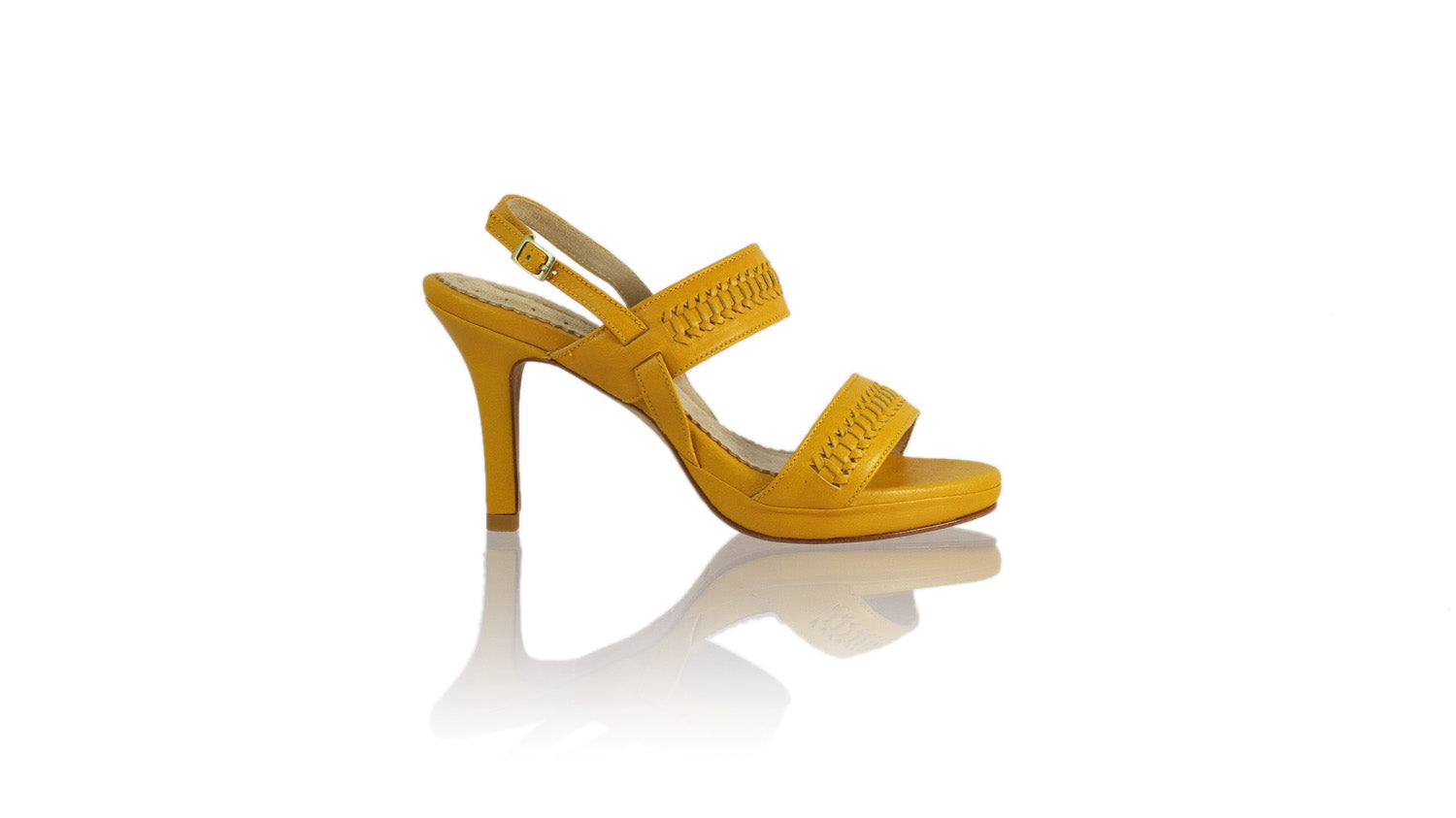 Leather-shoes-Sahara 90MM SH-01 PF - Yellow-sandals higheel-NILUH DJELANTIK-NILUH DJELANTIK