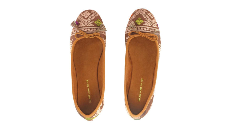 Leather-shoes-Noemi 20mm Ballet - Brown Songket-flats ballet-NILUH DJELANTIK-NILUH DJELANTIK