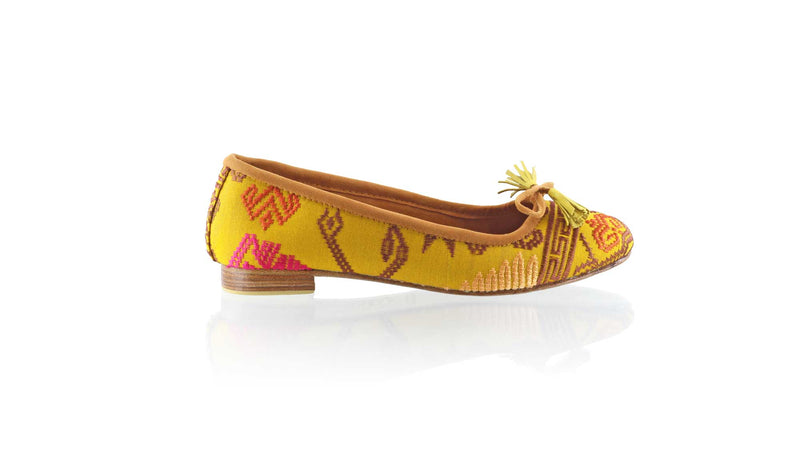 Leather-shoes-Noemi 20mm Ballet - Mustard Songket-flats ballet-NILUH DJELANTIK-NILUH DJELANTIK