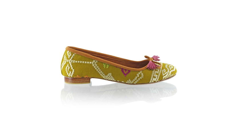 Leather-shoes-Noemi 20mm Ballet - Olive Songket-flats ballet-NILUH DJELANTIK-NILUH DJELANTIK