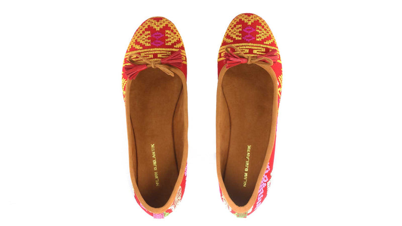 Leather-shoes-Noemi 20mm Ballet - Red Songket-flats ballet-NILUH DJELANTIK-NILUH DJELANTIK
