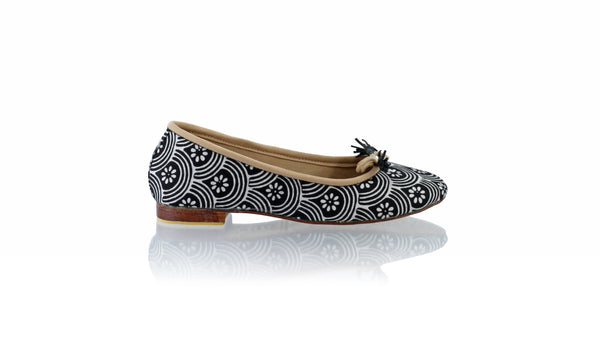 Leather-shoes-Sasha 20mm Ballet - Black Batik Motif Rainbow-flats ballet-NILUH DJELANTIK-NILUH DJELANTIK