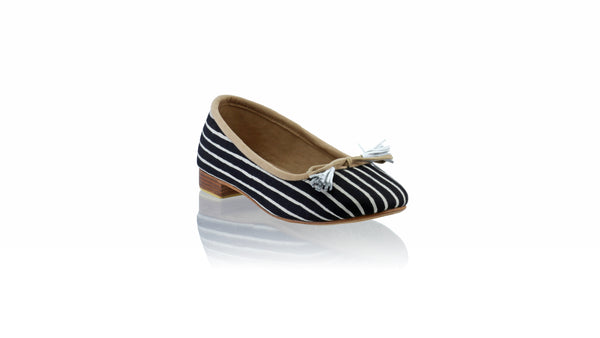Leather-shoes-Sasha 20mm Ballet - Black Batik with White Lines-flats ballet-NILUH DJELANTIK-NILUH DJELANTIK