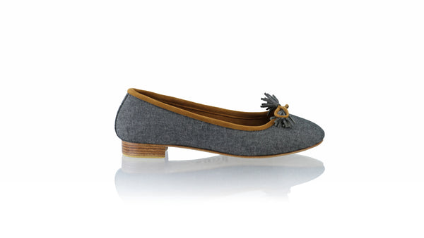 Leather-shoes-Sasha 20mm Ballet - Black Linen-flats ballet-NILUH DJELANTIK-NILUH DJELANTIK