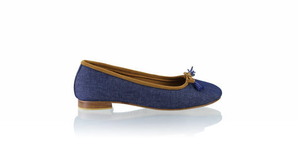 Leather-shoes-Sasha 20mm Ballet - Blue Denim-flats ballet-NILUH DJELANTIK-NILUH DJELANTIK