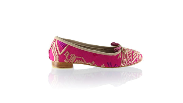 Leather-shoes-Sasha 20mm Ballet - Fuschia Songket-flats ballet-NILUH DJELANTIK-NILUH DJELANTIK