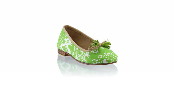 Leather-shoes-Sasha 20mm Ballet - Green Batik Motif Abstract-flats ballet-NILUH DJELANTIK-NILUH DJELANTIK