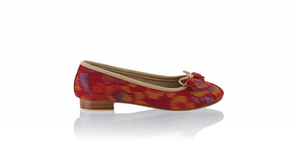 Leather-shoes-Sasha 20mm Ballet - Mix Red Endek 2-flats ballet-NILUH DJELANTIK-NILUH DJELANTIK