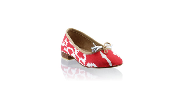 Leather-shoes-Sasha 20mm Ballet - Red Batik Motif Thunder-flats ballet-NILUH DJELANTIK-NILUH DJELANTIK