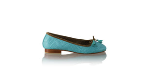 Leather-shoes-Sasha 20mm Ballet - Blue Woven Print-flats ballet-NILUH DJELANTIK-NILUH DJELANTIK