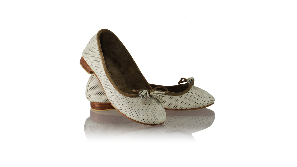 Leather-shoes-Sasha 20mm Ballet - Cream Net-flats ballet-NILUH DJELANTIK-NILUH DJELANTIK