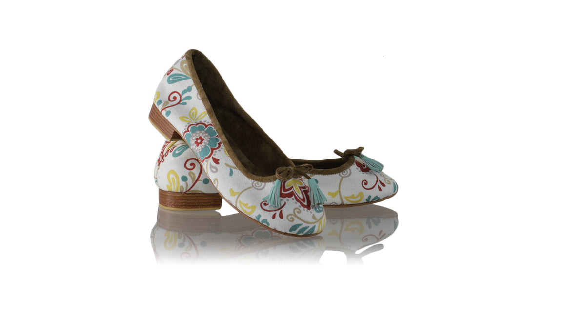 Leather-shoes-Sasha 20mm Ballet - Flower White Canvas-flats ballet-NILUH DJELANTIK-NILUH DJELANTIK