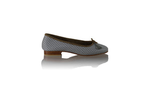 Leather-shoes-Sasha 20mm Ballet - Grey Net-flats ballet-NILUH DJELANTIK-NILUH DJELANTIK
