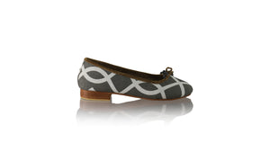 Leather-shoes-Sasha 20mm Ballet - Line Grey Linen-flats ballet-NILUH DJELANTIK-NILUH DJELANTIK