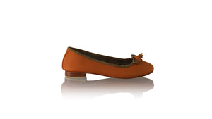 Leather-shoes-Sasha 20mm Ballet - Orange Net-flats ballet-NILUH DJELANTIK-NILUH DJELANTIK