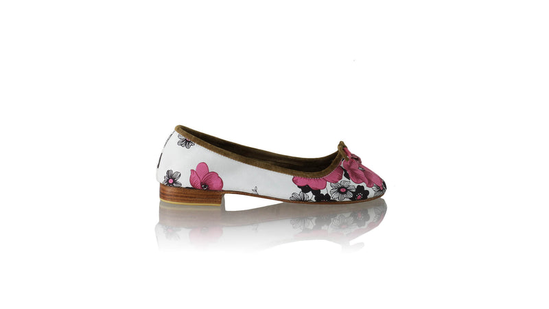 Leather-shoes-Sasha 20mm Ballet - Pink Flower Canvas-Shoes-NILUH DJELANTIK-NILUH DJELANTIK