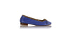 leather shoes Sasha Ballet 20mm - Blue Snake Print, flats ballet , NILUH DJELANTIK - 1