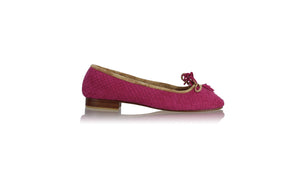 leather shoes Sasha Ballet 20mm - Woven Fuschia Suede, flats ballet , NILUH DJELANTIK - 1