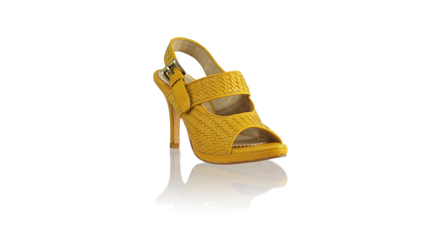 Leather-shoes-Selly Woven Enrique 90mm SH-01 PF - Yellow-sandals higheel-NILUH DJELANTIK-NILUH DJELANTIK