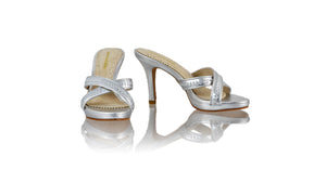 Leather-shoes-Shenoa 90mm SH-01 PF - All Silver-sandals midheel-NILUH DJELANTIK-NILUH DJELANTIK