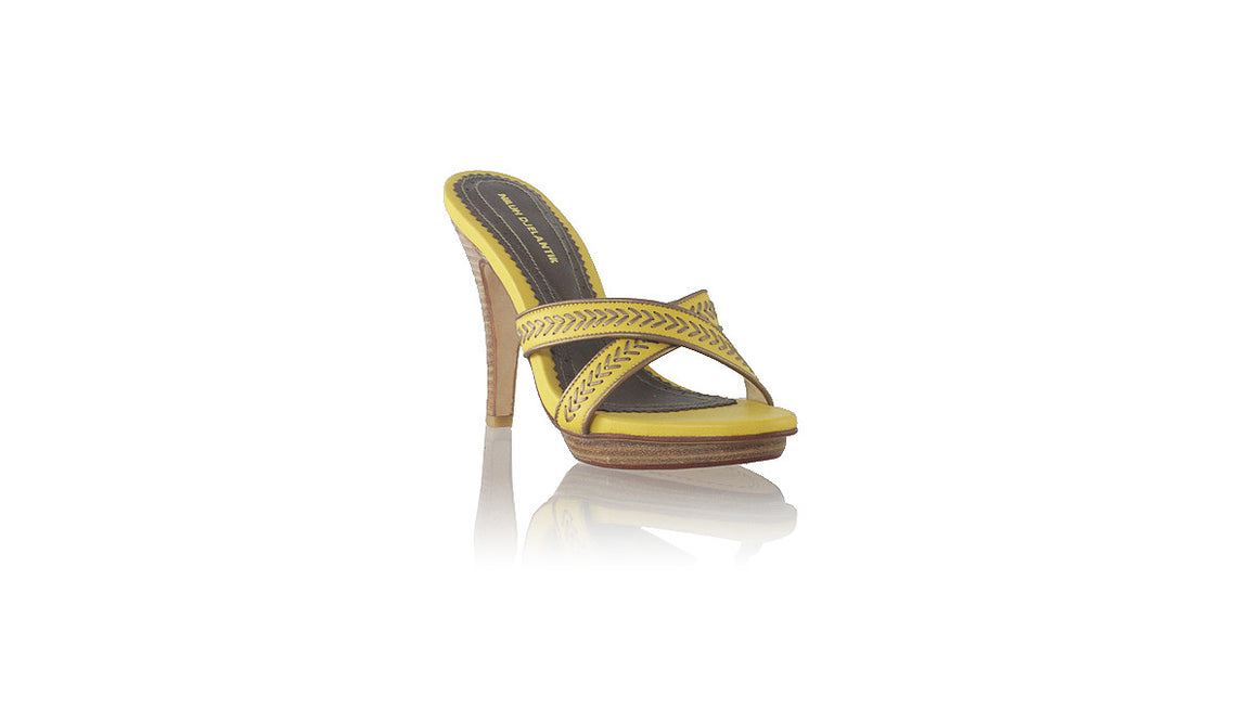leather shoes Shenoa PF 115mm SH - Yellow & Bronze, sandals higheel , NILUH DJELANTIK - 1
