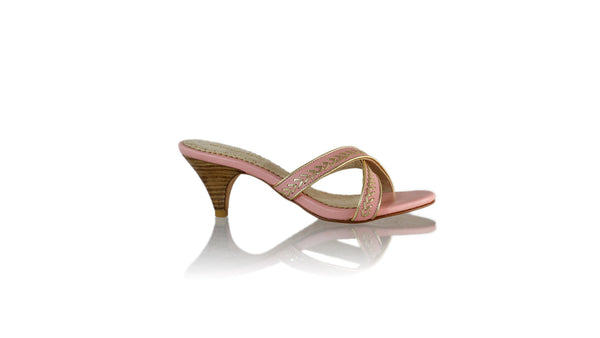 Leather-shoes-Shenoa 70mm SH - Soft Pink & Gold-sandals midheel-NILUH DJELANTIK-NILUH DJELANTIK