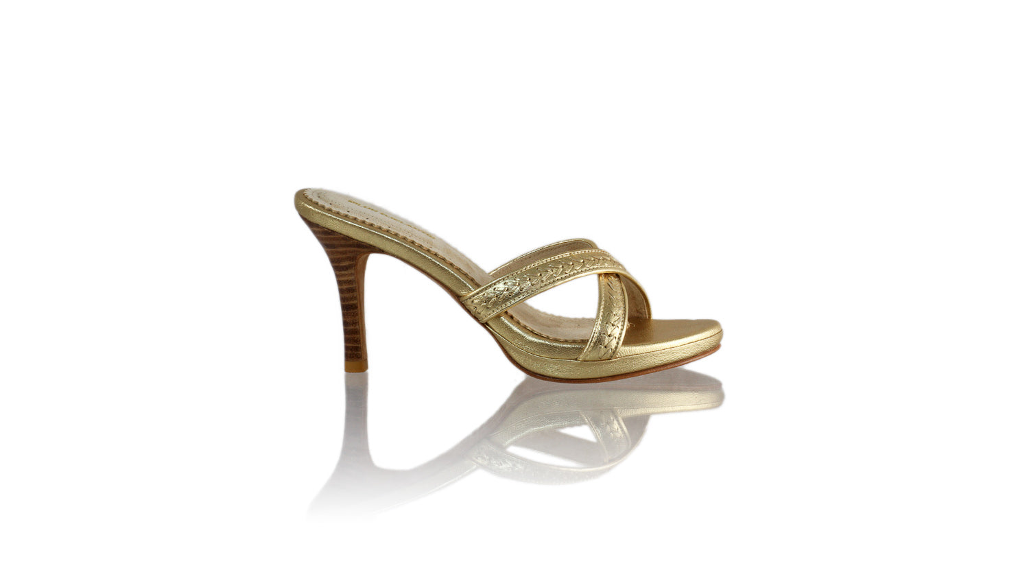 Leather-shoes-Shenoa 90MM SH PF - All Gold-sandals midheel-NILUH DJELANTIK-NILUH DJELANTIK