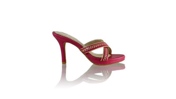 Leather-shoes-Shenoa 90mm SH-01 PF - Fuschia & Gold-sandals midheel-NILUH DJELANTIK-NILUH DJELANTIK