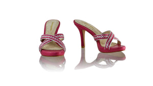 Leather-shoes-Shenoa 90mm SH PF-01 - Fuschia & Silver-sandals midheel-NILUH DJELANTIK-NILUH DJELANTIK