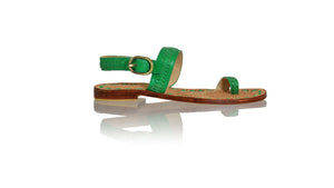 Leather-shoes-Sigi 20mm Flats - Green-sandals flat-NILUH DJELANTIK-NILUH DJELANTIK