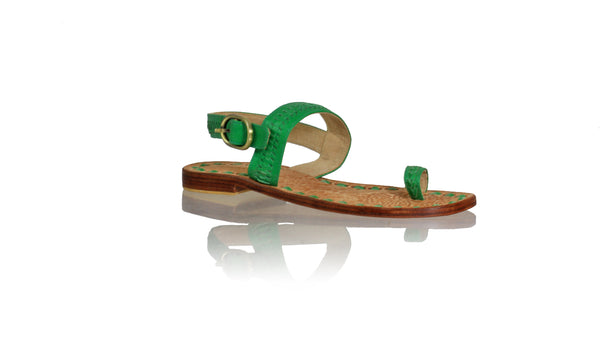Leather-shoes-Sigi 20mm Flat - Green-sandals flat-NILUH DJELANTIK-NILUH DJELANTIK