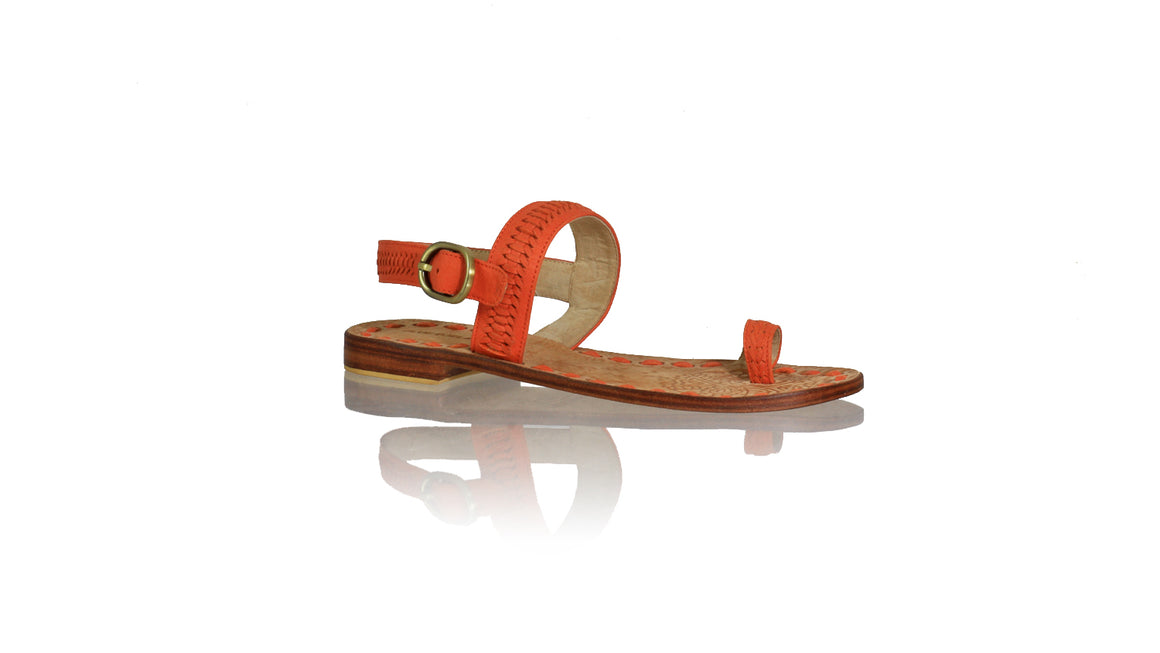 Leather-shoes-Sigi 20mm Flats - Orange-sandals flat-NILUH DJELANTIK-NILUH DJELANTIK