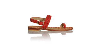 Leather-shoes-Sigi 20mm Flats - Red-sandals flat-NILUH DJELANTIK-NILUH DJELANTIK
