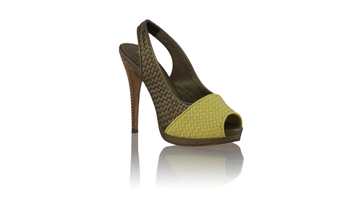 Leather-shoes-Sita woven 138mm SH - Yellow & Bronze-sandals higheel-NILUH DJELANTIK-NILUH DJELANTIK