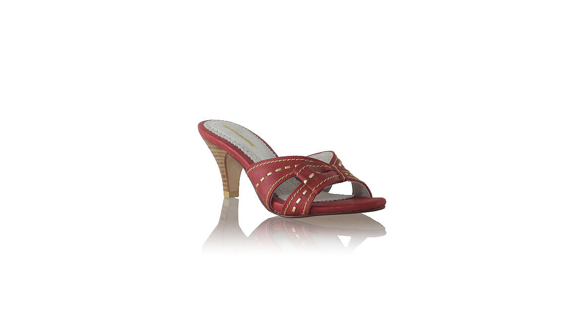 leather shoes Sri 70mm SH - Red & Gold, sandals midheel , NILUH DJELANTIK - 1