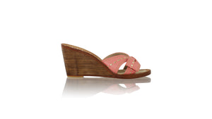 Leather-shoes-Sri 80mm Wedges - Salmon Pink-sandals wedges-NILUH DJELANTIK-NILUH DJELANTIK