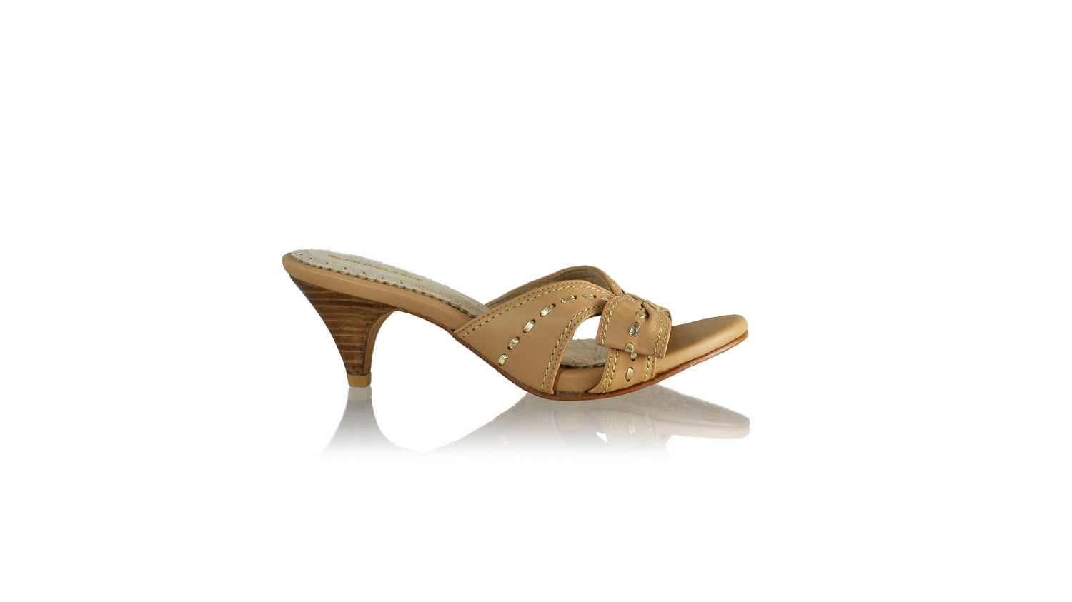 Leather-shoes-Sri 70mm SH - Nude & Gold-sandals midheel-NILUH DJELANTIK-NILUH DJELANTIK