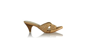 Leather-shoes-Sri SH 70mm - Nude & Gold-sandals midheel-NILUH DJELANTIK-NILUH DJELANTIK